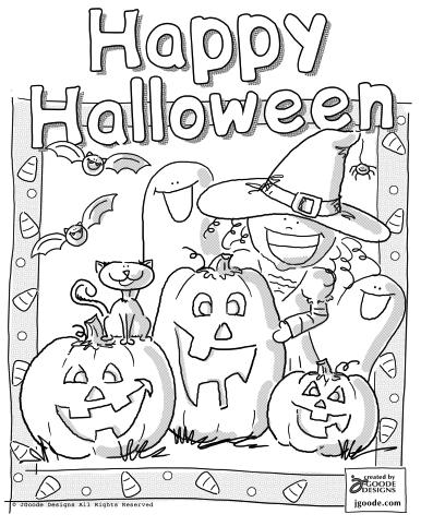 11 Happy Halloween Coloring Pages