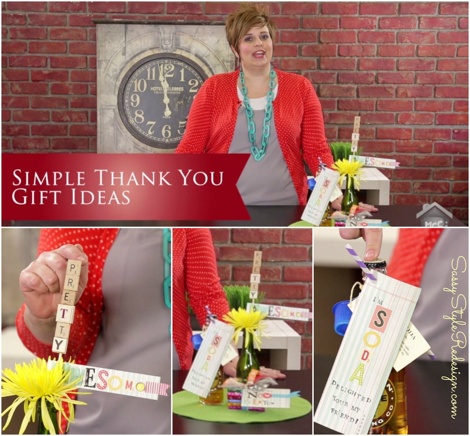 Gift Ideas Real Log Style: My Craft Channel: July 28th: Sassy Style Thank You Gifts