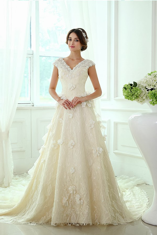 To be my chic bride perfect wedding dress a line for Wedding dresses for apple shaped body