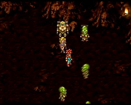 The party falls into a room filled with roaming Reptites in 65,000,000 BC