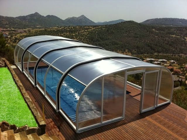 Presupuesto cerramiento aluminio m xima calidad para viviendas de lujo cosmoval cubierta - Techo piscina cubierta ...