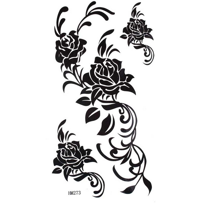tattoo nude rose Black