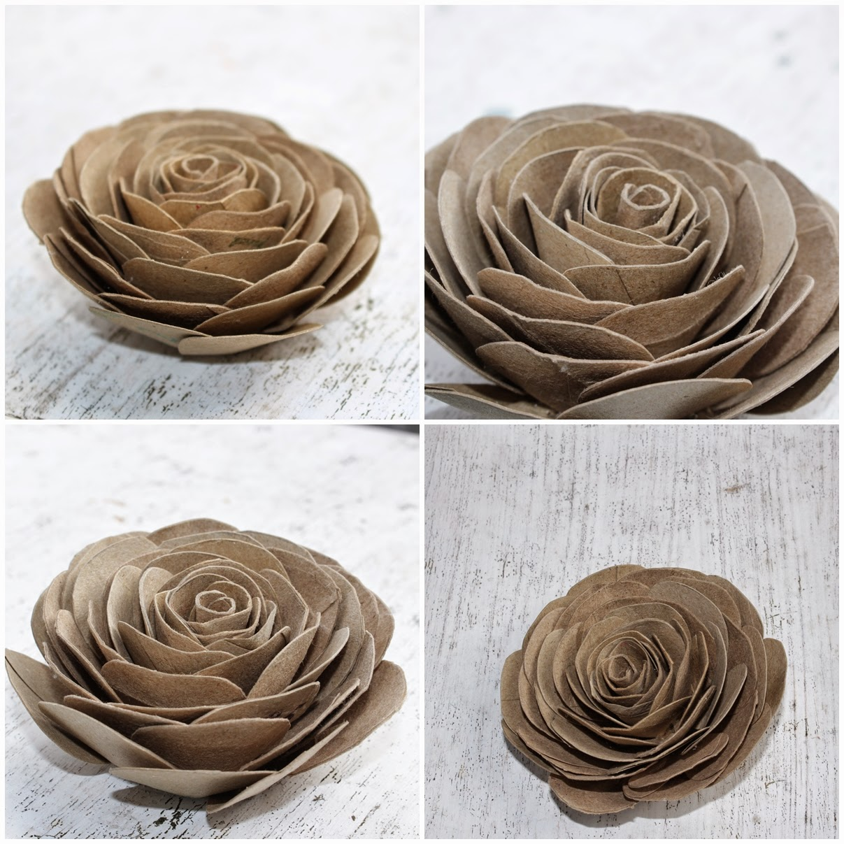 Diy how to make cabbage roses using empty toilet tissue for Cool things to do with roses
