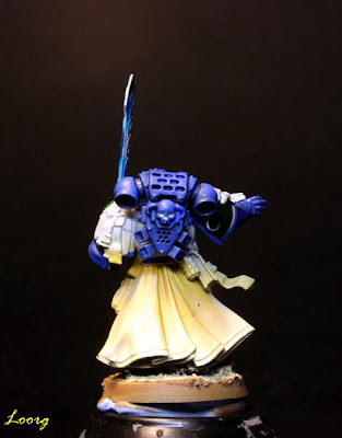 Detalle trasero de Turmiel de la caja de Warhammer 40000: Venganza Oscura