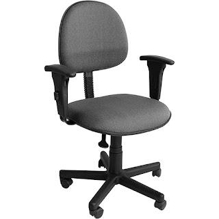 Cadeira Secretária com Braço Tecido
