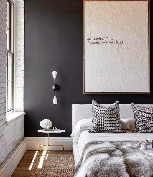 La fabrique d co peindre la chambre en noir ou en gris - Chambre grise et rose poudre ...