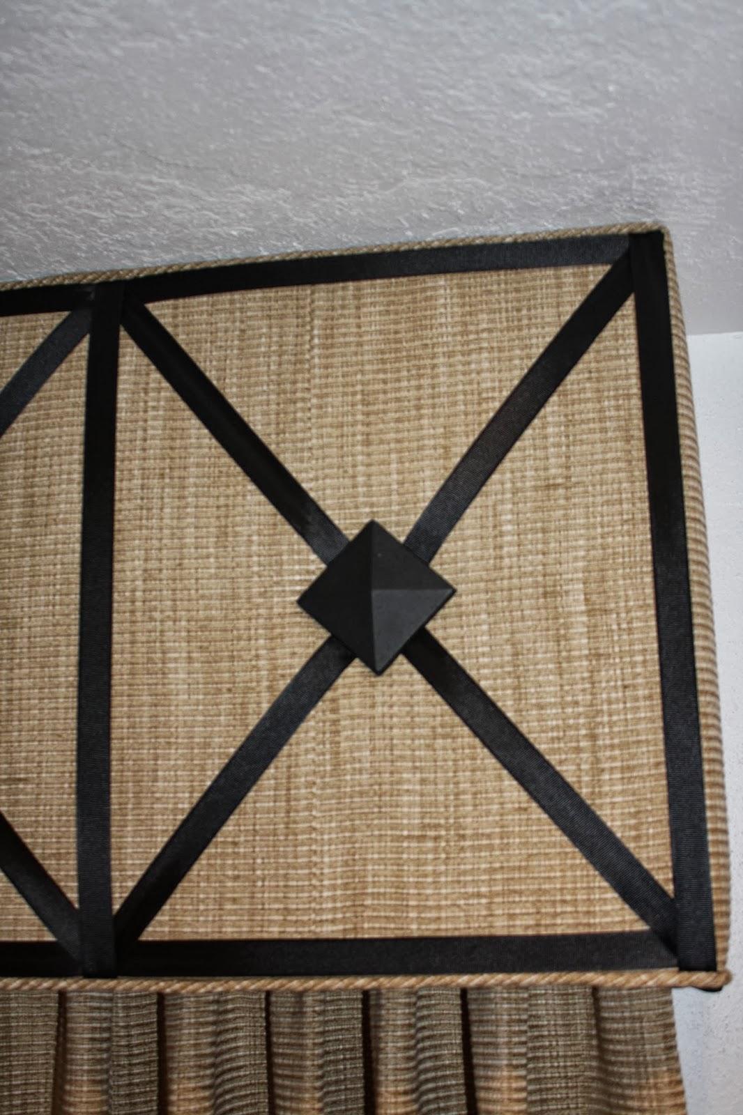 Wrought Iron Cornice : Window fashions cornice board using wrought iron medallions