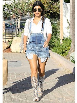 kourtney kardashian kardineira jeans curta