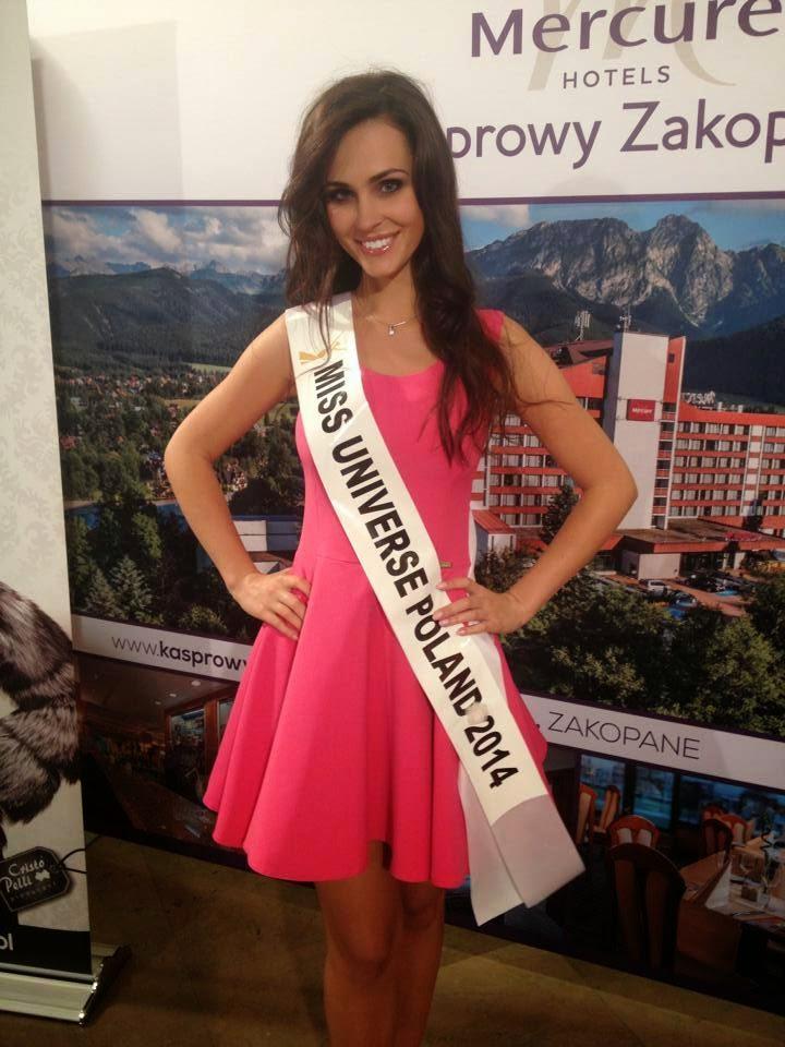 Miss Poland Universe 2014 winner Marcela Chmielowska