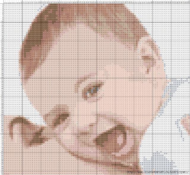Схемы вышивка крестом дети ребенок