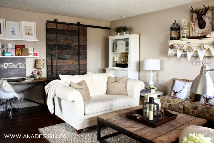 Make your own pallet wood barn door, by AKA Design, featured on ILoveThatJunk.com