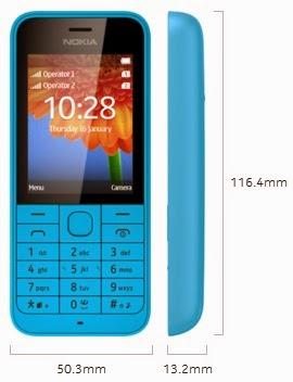 Dimensi Nokia 220
