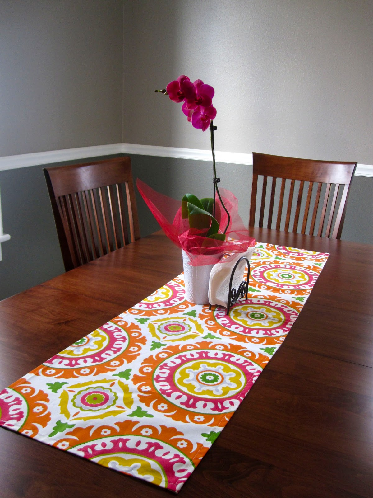 the homemade calling diy 5 table runner. Black Bedroom Furniture Sets. Home Design Ideas