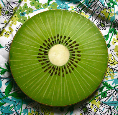 Lazy Susan painted to look like a kiwi slice
