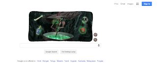 Halloween Witch interactive Google doodle