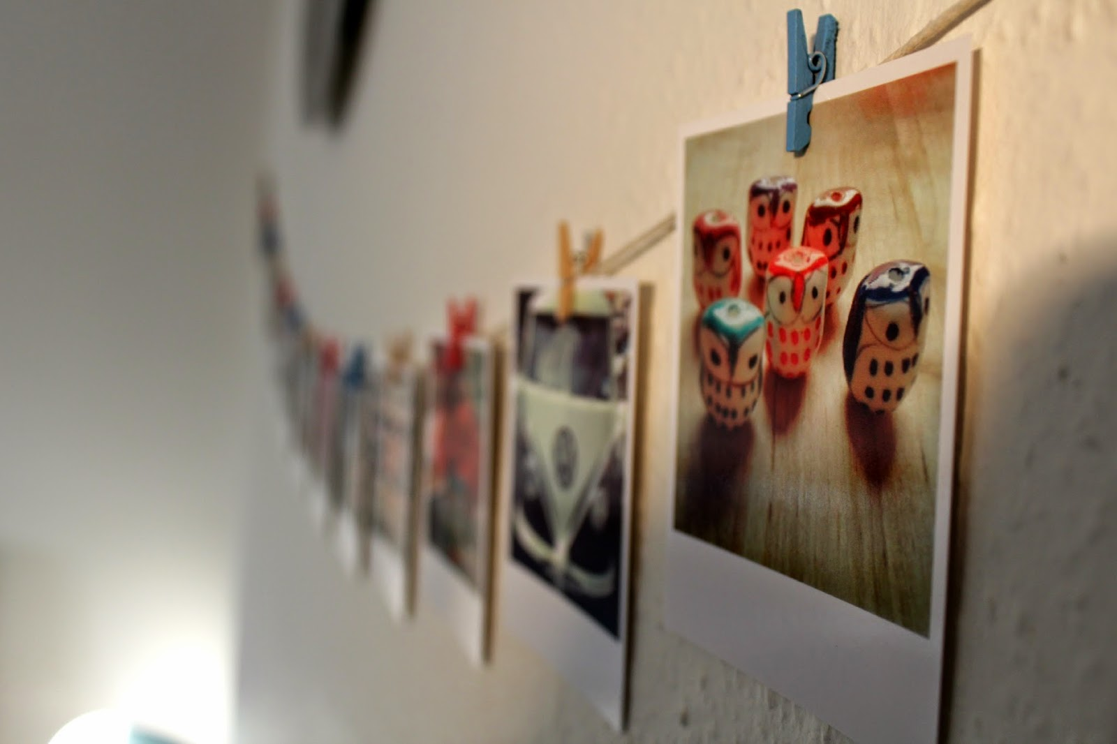 White framed colour Polaroid style prints from Square-Snaps // 76sunflowers