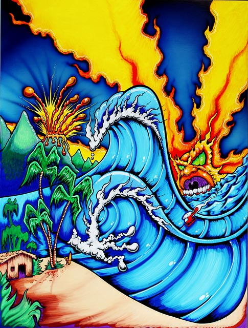 Drew Brophy surf lifestyle artist Lost Hawaii painting