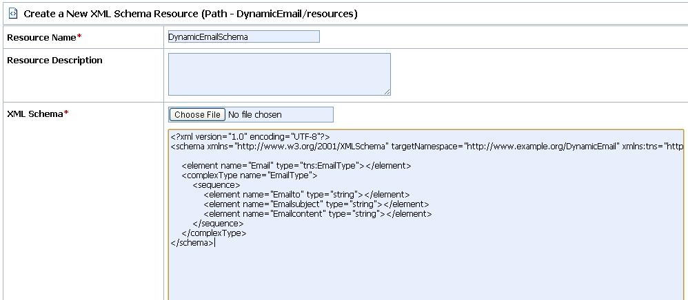 OSB Email Schema