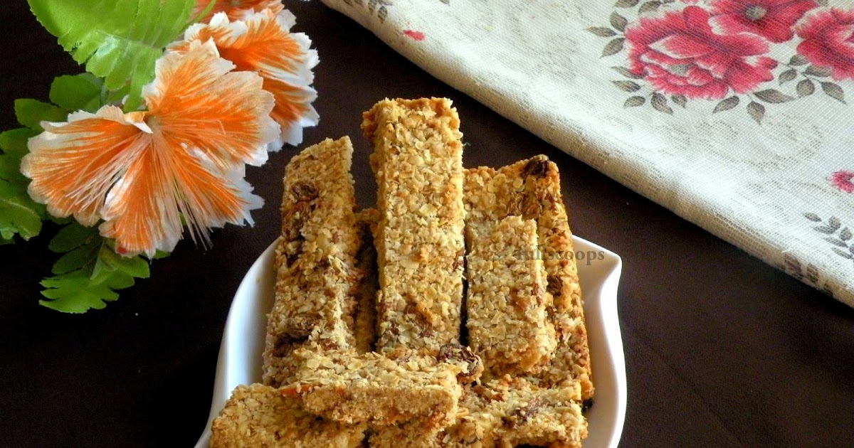 Homemade Granola Bars With Peanut Butter And Chocolate