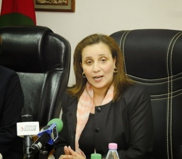 وزيرة التضامن الوطني والأسرة و قضايا المرأة مونية مسلم