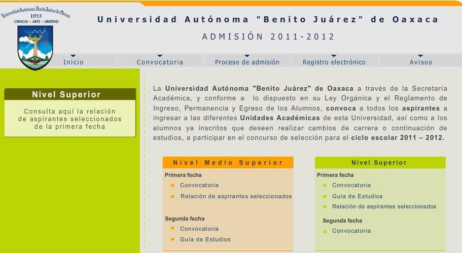 resultados uabjo 2011 17 julio nivel superior admision