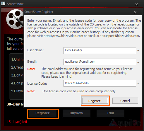 Download BlazeVideo SmartShow Legal License Key Gratis! 2
