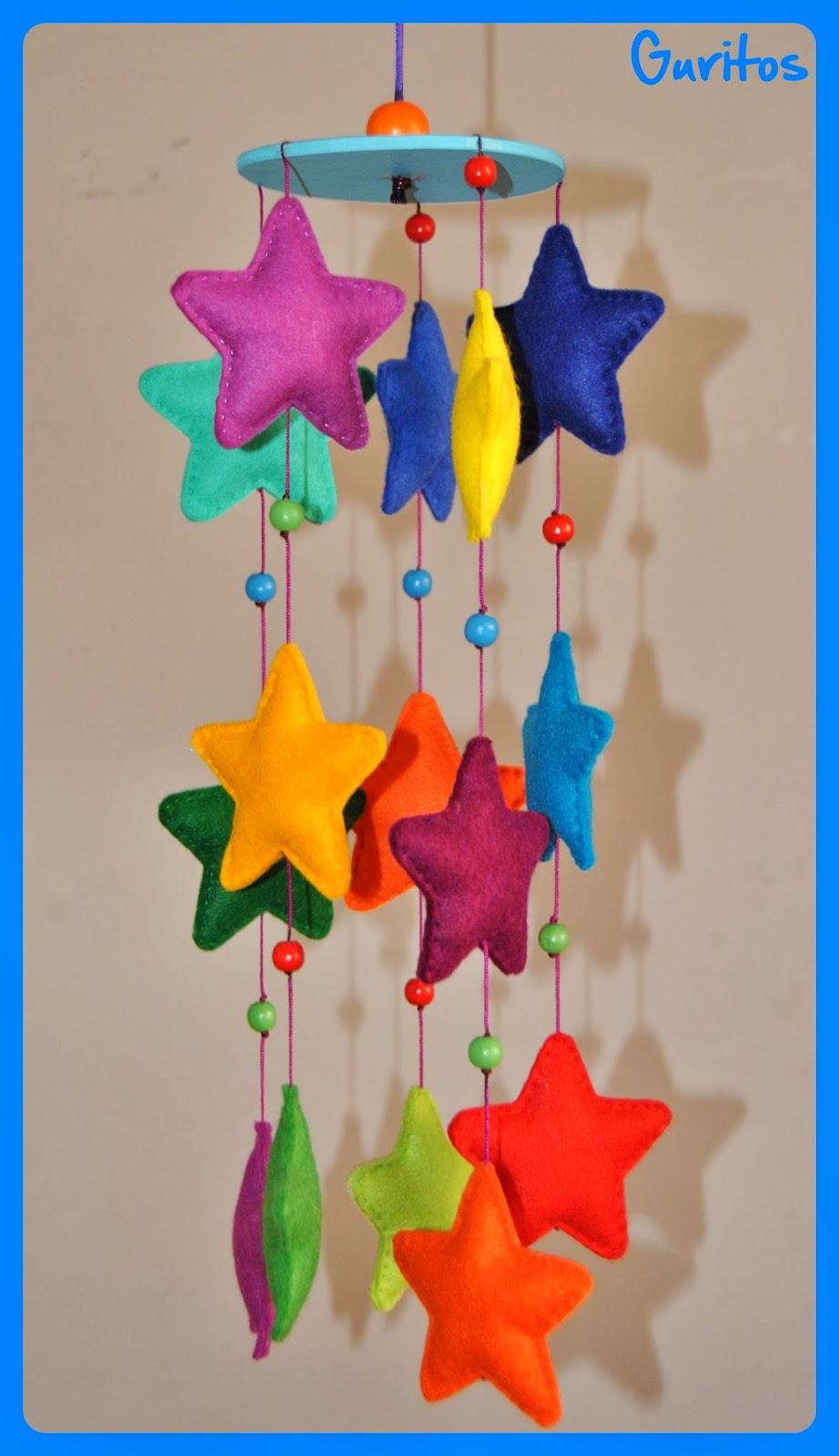 Guritos movil de estrellas - Como hacer un dosel para cuna ...
