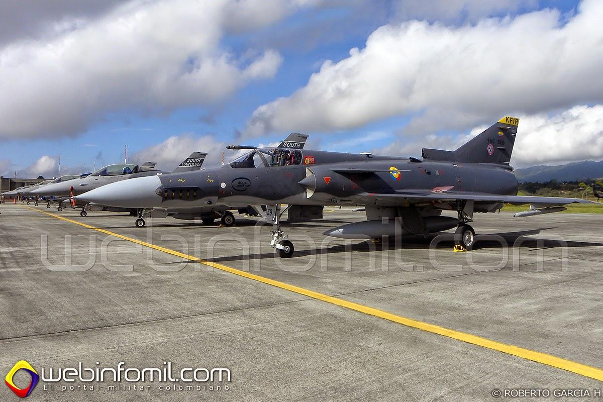 FAC3059 fuerza aerea colombiana Kfir