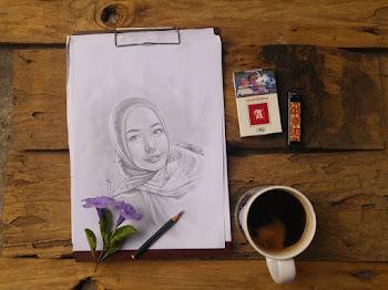 menerima sket wajah, karikatur dan lukisan