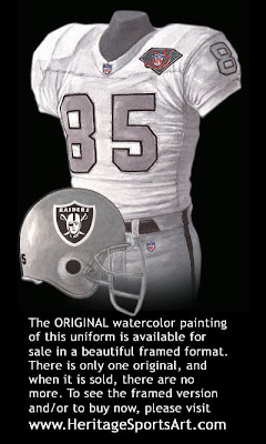 Los Angeles Raiders 1994 uniform -Oakland Raiders 1994 uniform