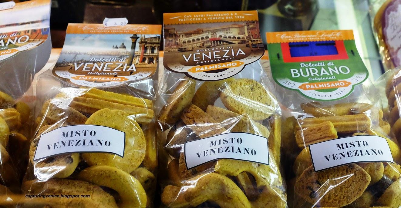 Venetian pasticceria window capturingvenice.blogspot.com
