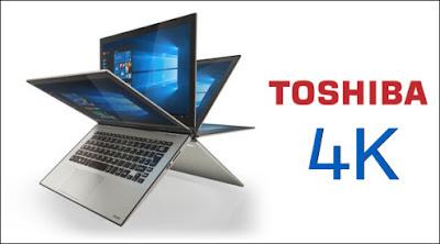 اول جهاز لابتوب من توشيبا بشاشة تدعم دقه 4K