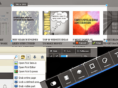 pixlr grabber Screenshot software as a second blogging tool