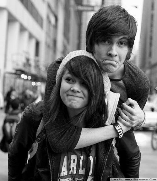 cute, couple, hugs, each, other, love