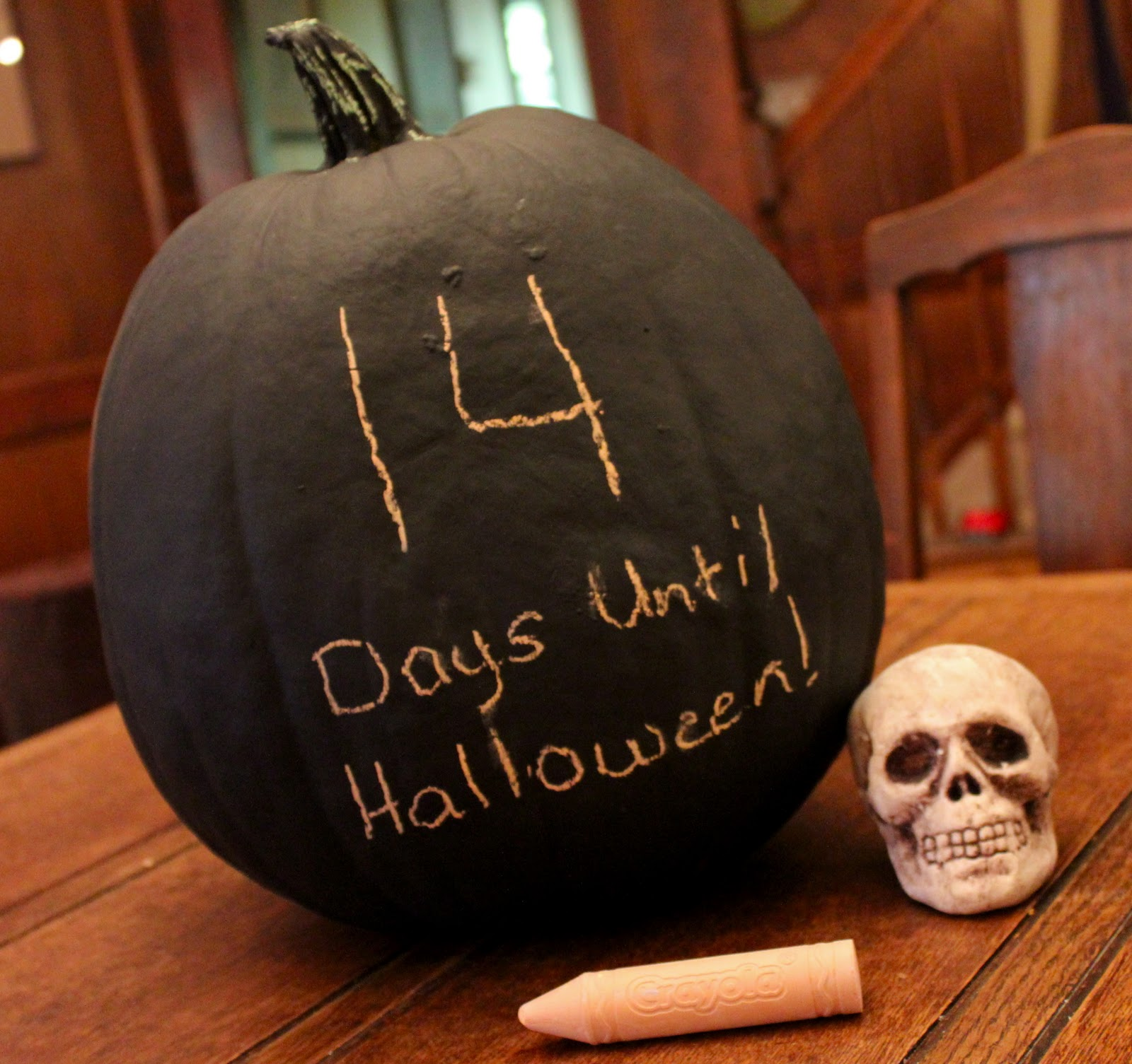 booturtle's show and tell: Chalkboard Pumpkin Countdown
