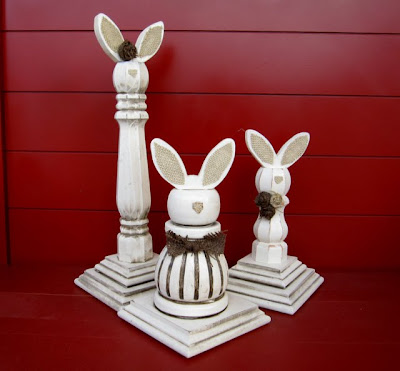 Someday crafts finial candlestick and tableleg bunny for Wooden finials for crafts