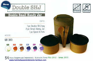double shj, double small handy jar tulipware