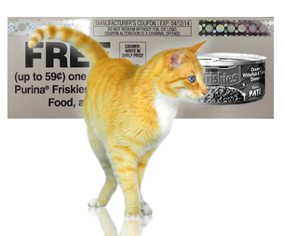 Purina Friskies Canned Cat Food FREE Product Coupon Giveaway