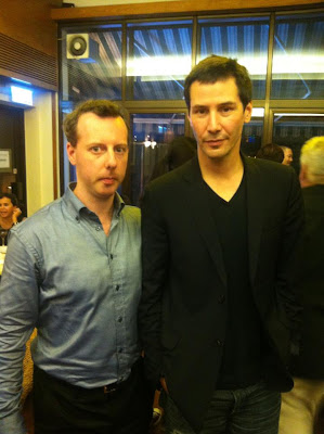 Keanu Reeves and Spencer Douglass in Hong Kong