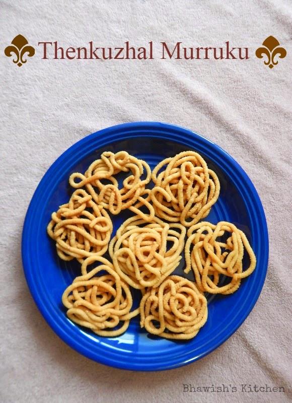 Thenkuzhal Murukku |  Diwali snack recipes