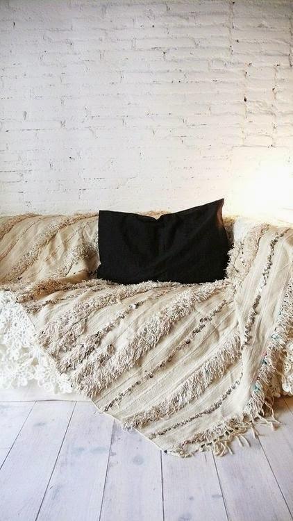 Renovar sofa con manta algodon hippie