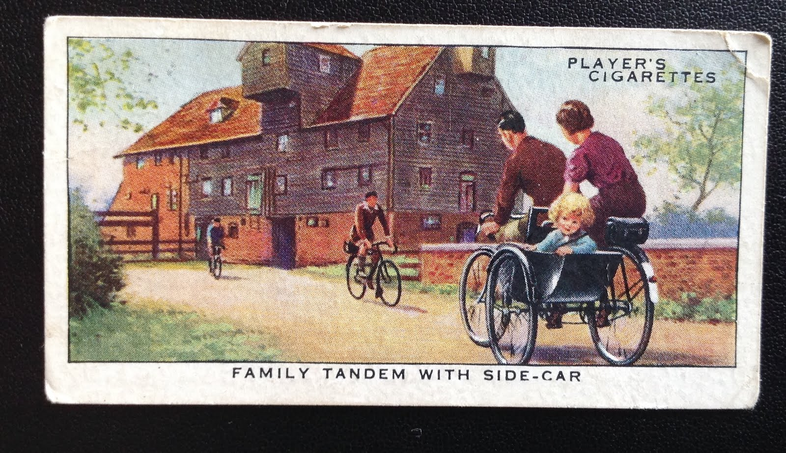 A tandem side-car at Houghton Mill YHA