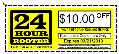 Yakima Plumbing and Drain Cleaning Coupon Available from 24 Hour Rooter of Yakima