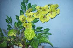 arranjo orquidea / verde