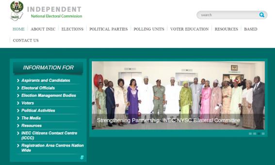 INEC Website Has Been Restored, Now Back Online!!