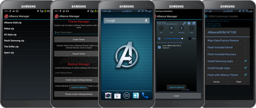 alliance rom for galaxy s4 update to lattest android 4.4.2 kitkat