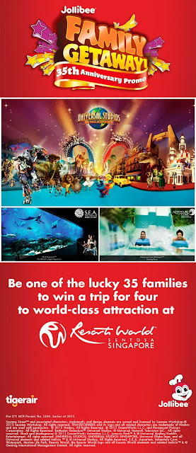 Jollibee's Resort Word Singapore Family Getaway, Promos