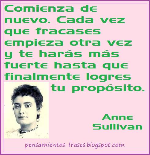 frases de Anne Sullivan