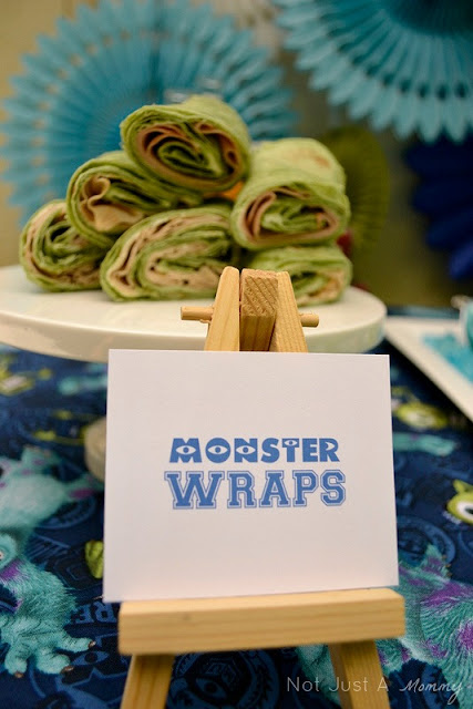 Monsters University lunchtime table Monster Wraps