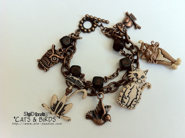 ar284-cats-birds-charm-bracelet
